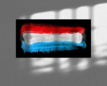 Symbolische Nationalflagge Luxemburgs von Achim Prill