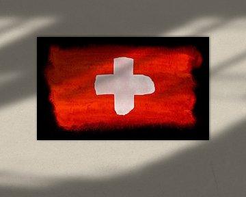 Symbolische Nationalflagge der Schweiz von Achim Prill