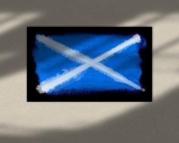 Symbolische Nationalflagge Schottlands von Achim Prill
