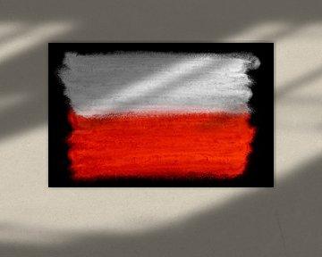 Symbolische Nationalflagge Polens von Achim Prill