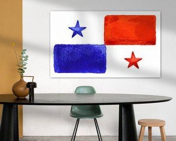 Symbolische Nationalflagge Panamas von Achim Prill
