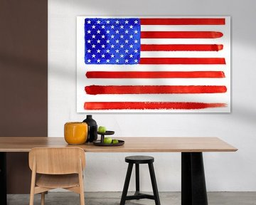 Symbolische Nationalflagge Amerikas von Achim Prill