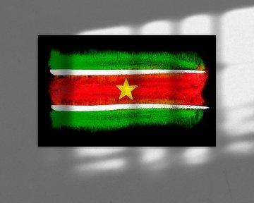 Symbolische Nationalflagge Surinames von Achim Prill