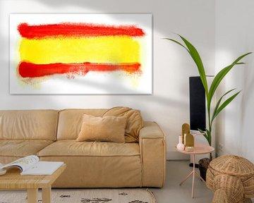 Symbolische Nationalflagge Spaniens von Achim Prill