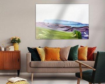 Kleurige glazen, Macrofotografie