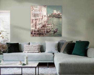 VENICE Grand Canal & Santa Maria della Salute   urban vintage style van Melanie Viola