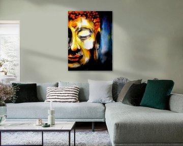 Boeddha - De aquarel 06022021-01 van Michael Ladenthin
