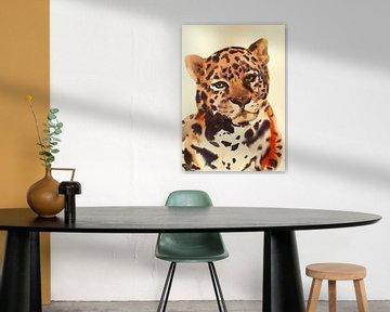 Tiger Liebe von Helia Tayebi Art