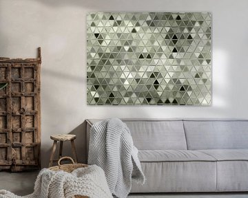 Abstract driehoeken van Maurice Dawson