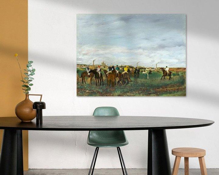 Sfeerimpressie: De race, Edgar Degas (ca. 1871–1872) van Atelier Liesjes