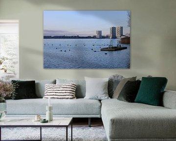 Skyline von Almere von Rosalie Broerze