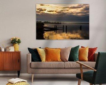 Zonsondergang op het Gooimeer.