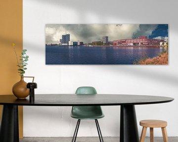Almere Stad Skyline met Flevoziekenhuis van Brian Morgan