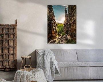 Bielatal in Saksisch Zwitserland - Zicht op de kleine Herculeszuil van Pixelwerk
