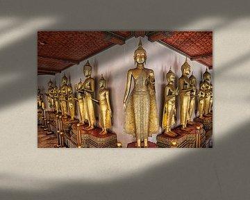 Goldene Buddha Statue Thailand von Bernd Hartner