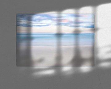 Strand, water en wolken in Bondi Beach van Rob van Esch