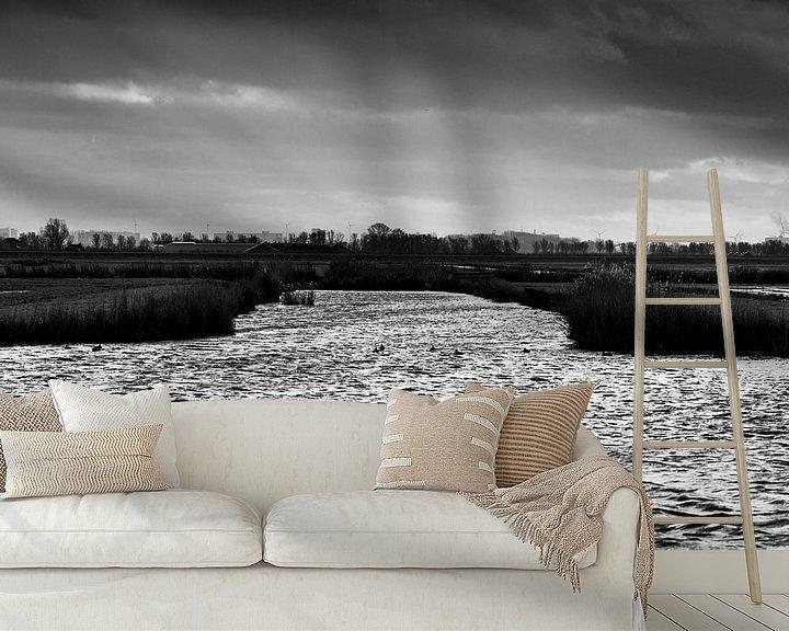 Beispiel fototapete: Wind und Winter im Wasserland von Rene  den Engelsman
