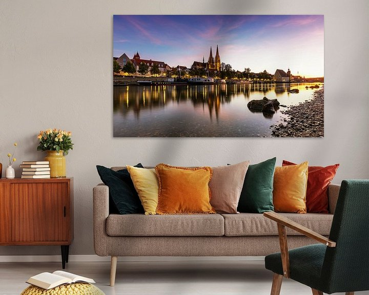 Sfeerimpressie: Regensburg bij zonsondergang van Frank Herrmann