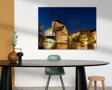 Bamberg - L'ancien hôtel de ville à l'heure bleue