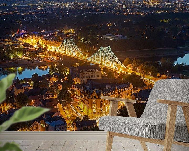 Beispiel fototapete: Blaues Wunder - Dresden Loschwitz von Frank Herrmann
