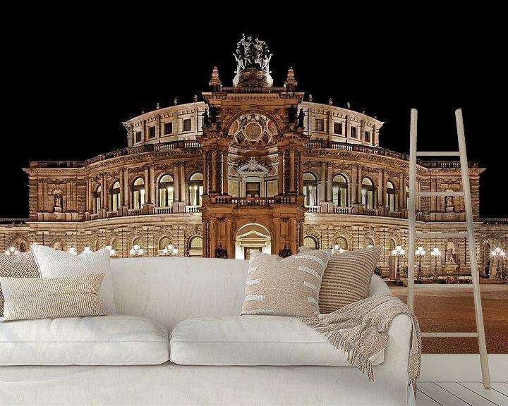 Beispiel fototapete: Semperoper Dresden bei Nacht von Frank Herrmann