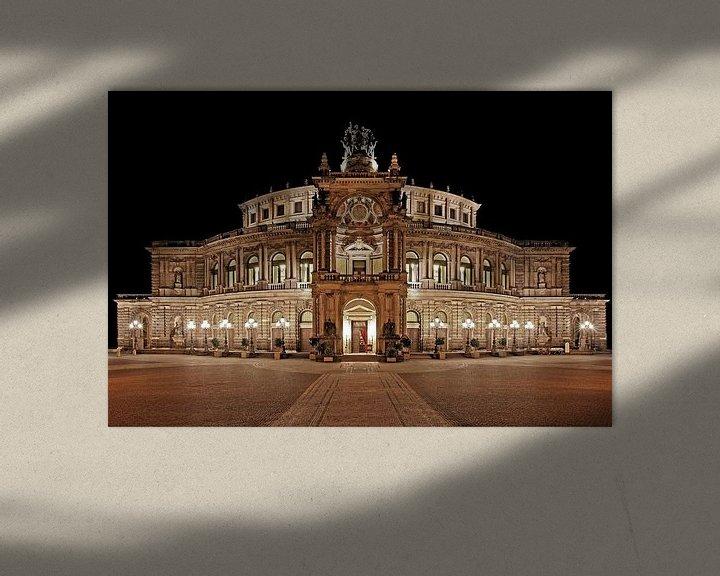 Beispiel: Semperoper Dresden bei Nacht von Frank Herrmann
