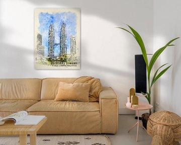 Petronas Towers von Printed Artings