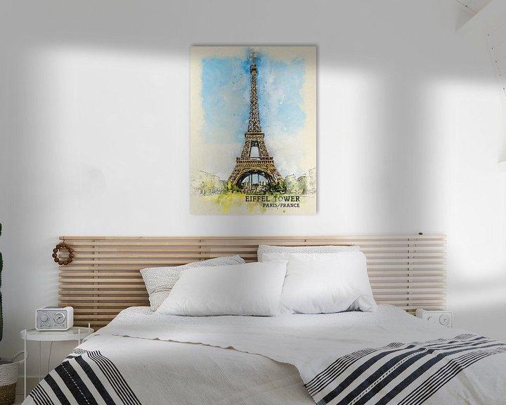 Sfeerimpressie: Eiffeltoren van Printed Artings