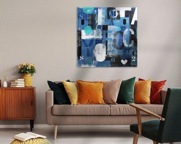 Beispiel: Blaue Briefe NYC von Kathleen Artist Fine Art