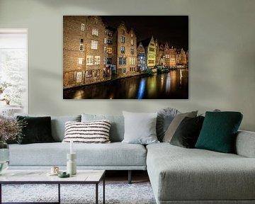 Graslei in Gent van Wim Brauns