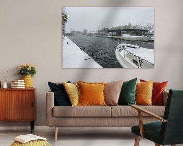 Winter aan de Piushaven van Freddie de Roeck