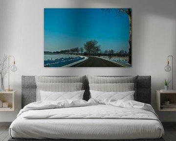 Weg in de winter in Sleeswijk-Holstein van Norbert Sülzner