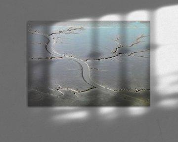 Slib bij laagwater in de dollard van Sky Pictures Fotografie