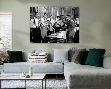 A Song is Born met Charlie Barnet, Tommy Dorsey, Benny Goodman, Louis Armstrong en Lionel Hampton van Bridgeman Images