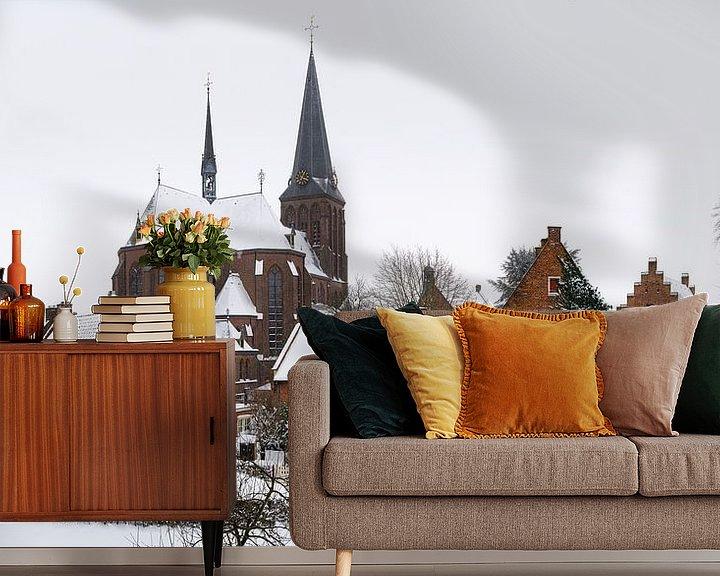 Sfeerimpressie behang: 's Heerenberg in de winter van Jeroen Kleiberg