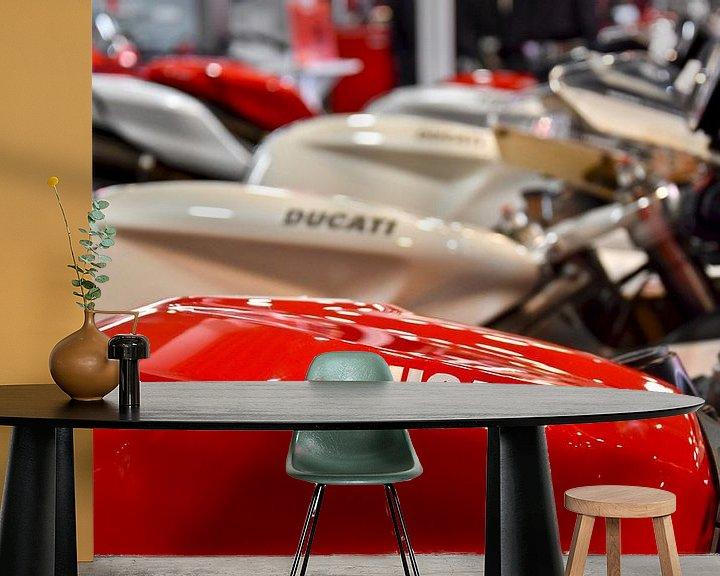Sfeerimpressie behang: Ducati motorfietsen van Jan Radstake