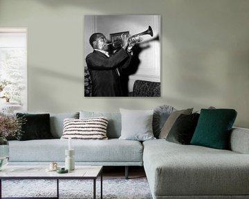 Louis Armstrong in Buenos Aires, Argentinië, 1957 van Bridgeman Images