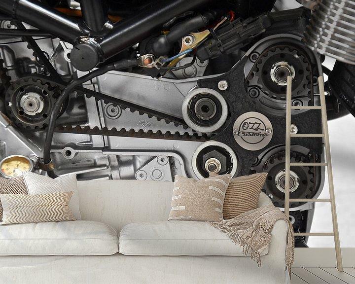 Sfeerimpressie behang: Ducati techniek van Jan Radstake