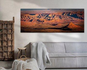 Panorama Vallei van de Goden in Utah van Dieter Walther