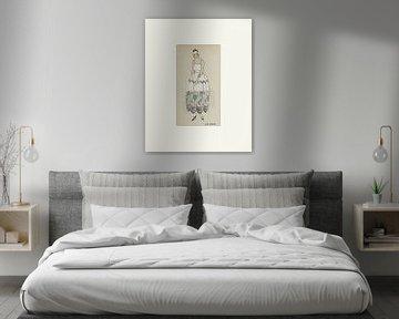 Luciole - Historischer Art Deco Mode Druck von NOONY