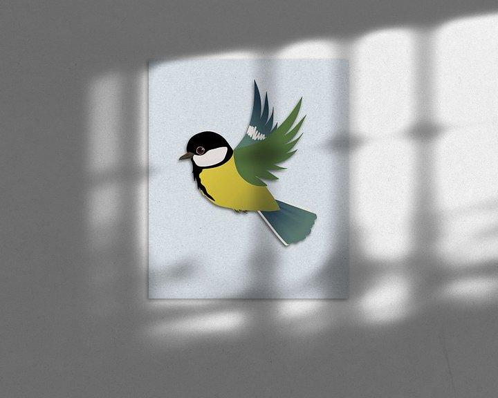Beispiel: Fliegende Kohlmeise von Bianca Wisseloo