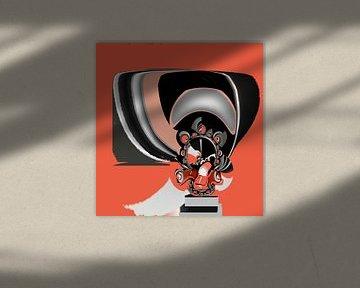 Car Factory - Abstract von Annaluiza Dovinos