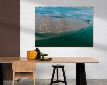 Barre de sable de l'Escaut oriental à marée basse sur Sky Pictures Fotografie