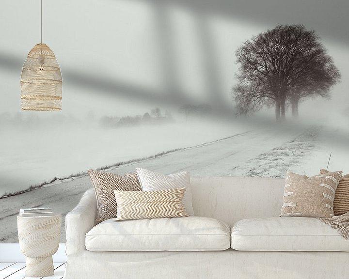 Sfeerimpressie behang: Sneeuwstorm van Martijn Tilroe