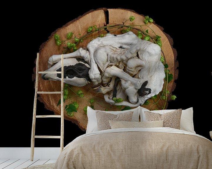 Sfeerimpressie behang: Kalf van Mascha de Lange