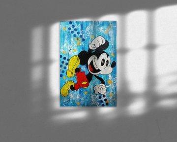 """Mickey Mouse """"Happy Day"""" van Kathleen Artist Fine Art"""