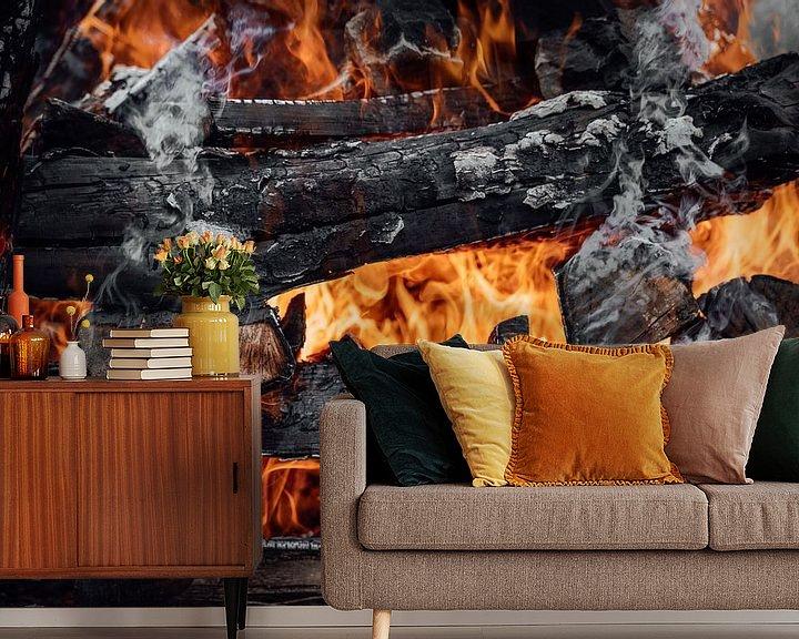 Sfeerimpressie behang: Vuur van Auke Hamers