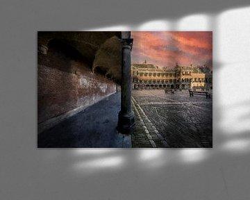 La cour de La Haye sur Digitale Schilderijen