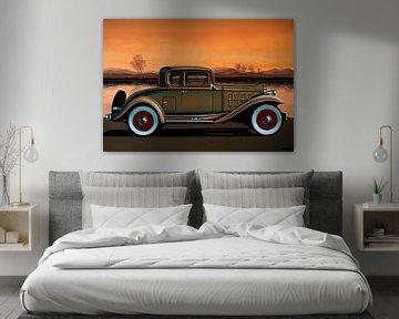 Buick 96 S Coupé 1932 Peinture sur Paul Meijering