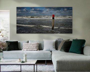 Strandpaal van Cees van Miert